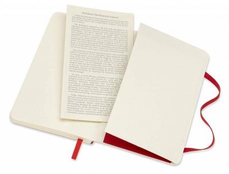 Блокнот Moleskine Classic Soft, цвет красный, без разлиновки