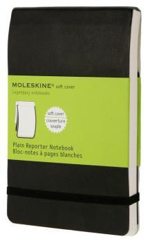 Блокнот Moleskine Reporter Soft, цвет черный, в без разлиновки