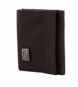 Бумажник Victorinox Lifestyle Accessories 4.0 Tri-Fold Wallet, чёрный, 9x3x10