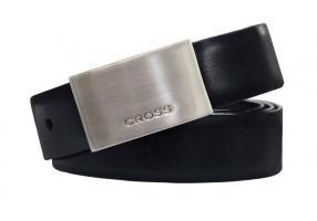 Ремень Cross Classic Century двухсторонний, кожа наппа гладкая, чёрный/коричневый, 130х3 см
