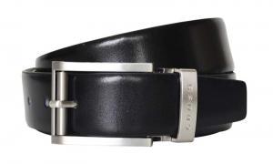 Ремень Cross Classic Century двухсторонний, кожа наппа гладкая, чёрный/коричневый,134х3,5 см