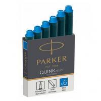 Parker Чернила (картридж), синий, 6 шт в упаковке
