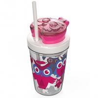 Стакан детский для воды с трубочкой Contigo Snack Tumbler (0,35 литра), розовый