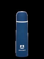 """Термос Арктика (0,5 литра) с узким горлом классический, с резиновым """"шёлковым"""" покрытием, синий"""