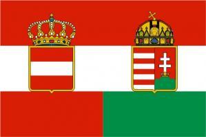 Флаг империи Австро-Венгерская