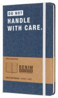 Блокнот Moleskine LE Denim Notebooks Large, Don`t Handle, цвет синий, в линейку
