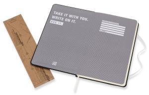 Блокнот Moleskine LE Denim Notebooks Large, Hand Wash, цвет черный, в линейку