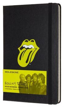 Блокнот Moleskine LE Rolling Stones Large, цвет черный