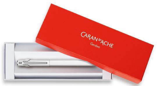 Carandache Office 849 Classic - Laquer White, перьевая ручка, F, подарочная коробка