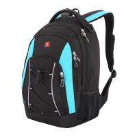 Рюкзак Wenger, черный/синий, со светоотражающими элементами, 33х19х45 см, 28 л