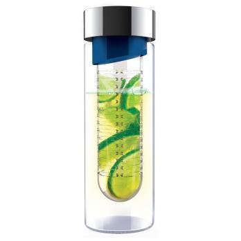 Бутылка Asobu Flavour it (0,48 литра), голубая с серебристым*