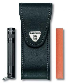 Чехол Victorinox для ножей 111 мм, до 6 уровней, на липучке, кожаный